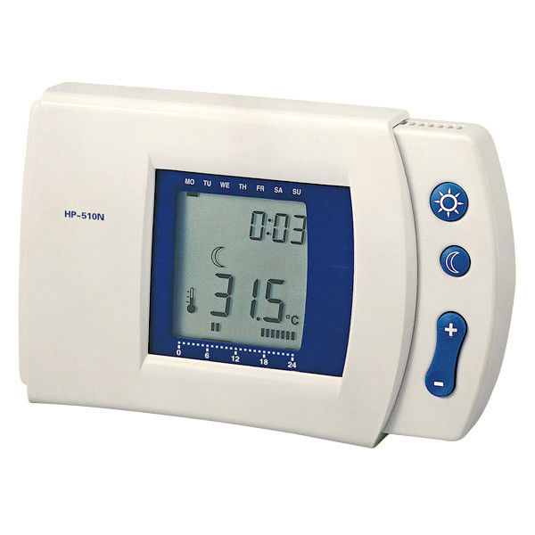 Big Screen Temperature Humidity Controller , 16 Amp Room Thermostat 80% Accuracy