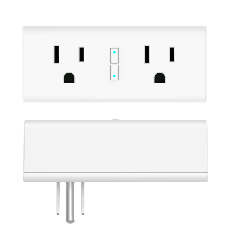 US Standard 2 Packs WiFi Smart Power Plug Echo Compatible Google Home No Hub Required
